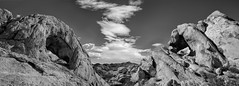 Valley of Arches (East of 29) Tags: valleyofarches joshuatreenationalpark fareast desert bw clouds sliderssunday
