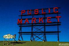 Public Market (gvonwahlde) Tags: seattle washington washingtonstate pikeplacemarket canon canon6d royalcaribbean alaskacruise cruising travel adventure cruise pselements sign vonwahlde