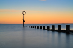 Portobello Beach at Sunset (MilesGrayPhotography (AnimalsBeforeHumans)) Tags: 2470 fe2470mmf4zaoss 10stopper autumn a7rii sonya7rii britain beach dusk edinburgh europe evening fe firthofforth glow goldenhour groyne iconic ilce7rm2 sonyilce7rm2 landscape lens longexposure landscapephotography nd nd1000 outdoors oss ocean photography photo reflections scotland sunset sunlight sony sea seascape portobello portobellobeach scenic scottish scottishlandscapephotography sonyfe2470f4zaoss town uk unitedkingdom waterscape water zeiss