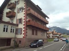408 albergo in val di fassa trentino alto adige (ERREGI 1958) Tags: albergo hotel trentino alto adige dolomiti alpi ss 48 pozza fassa val