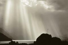 Nordland landscape. Norway (ibethmuttis) Tags: foggy fjord mountain bushes sun rays clouds nordland landscape rainyday nikond300s nature ibeth