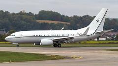 Boeing 737-7FY(BBJ) P4-AFK Premier Avia (William Musculus) Tags: bsl lfsb eap mlh basel mulhouse airport freiburg euroairport spotting aeroport p4afk premier avia boeing 7377fybbj 737700bbj 737bbj bbj1