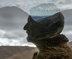 head-in-the-clouds (marianna armata) Tags: profile portrait doubleexposure incamera rockymountainnationalpark headintheclouds p2800817 r