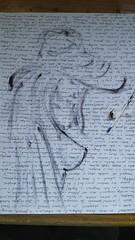Cualquier manera de dibujar es tan válida, como cualquier otra, ésta es la mía.... Aprovechando tinta de boli roto, marcamos silueta con tinta y papel, para después bosquejarlo un poco con pluma estilográfica y unas sombras de boli... . Bocetos... . #draw (egc2607) Tags: sketch ink sexy artwork creative art color tattoo fitnessgirl artdaily artphoto artlovers artoftheday photography ballpen artist painter painting sensualidad instaart drawing hairstyle zaragoza фотография fotografia beautifulgirl woman sensuality artofinstagram draw
