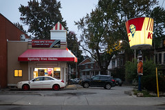 KFC(olor) (cookedphotos) Tags: 2018inpictures canon 5dmarkiv streetphotography toronto ontario canada ca 365project p3652018 kfc kentuckyfriedchicken car color match red white