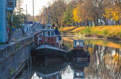 Meet Hervor and Pontus (RdeUppsala) Tags: tugboat fyris river río fyrisån uppland uppsala sverige suecia sweden city paisaje puerto harbor hamn autumn otoño höst remolcador barco båt bogserbåt