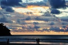 apenas uma caminhada... vem! (Ruby Ferreira ®) Tags: walk beach litoralnortepaulista sunset pôrdosol sand sea sky atlanticocean