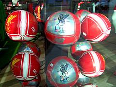 The Shop at Anfield, Liverpool, England (teresue) Tags: 2017 uk unitedkingdom greatbritain england liverpool merseyside anfield lfc liverpoolfootballclub footballs soccerballs football liverpoolfc