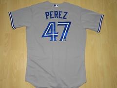 #47 Juan Pablo PEREZ (Pitcher) Game Issued Jersey (kirusgamewornjerseys) Tags: toronto blue jays torontobluejays game worn jersey mlb canada melky cabrera maicer izturis juan perez