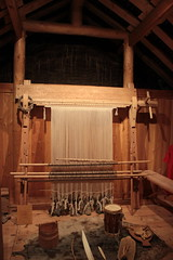 Vertical loom (gordontour) Tags: experimentalarchaeology recreation norse viking greenland qassiarsuk history heritage tourism traditional craft wool weaving loom