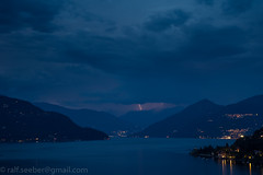 Lago Maggiore (See-be-r Photography) Tags: lagomaggiore blitz storm lightning tormenta see lago night