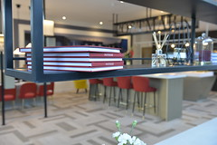Postmark | Marketing Suite - Interior Decor (Octink) Tags: postmark marketing suite octink installation install sales cabin space decoration interior examples example home terrace office hoarding post rooftop show hall entrance showhome bar london