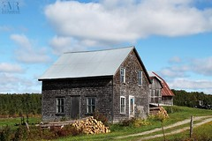 Maison de ferme inhabitée, QC (Eve-Marie Roy) Tags: evemarieroy costard ferme farm grange barn cabane shack bâtiment building village rurale rural campagne old quebec canada beauce house home maison