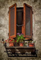 Montecatini Alto, Italy (Leaning Ladder) Tags: italy italia tuscany montecatini montecatinialto windows shadows canon 7dmkii leaningladder