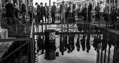 San Marco reflection (rick miller foto) Tags: italy venice san marco churches tourists street reflections black whit mono monotone stories water rising flood venetian blackwhite