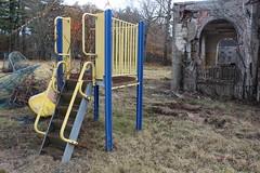 IMG_4615 (watchfuleyephoto) Tags: playground empty swings rockland state hospital psychiatric children horror scary creepy abandoned toys urbex