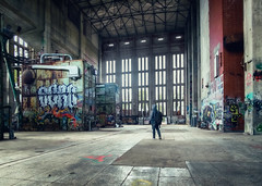 Melt into the background. (Matthias Dengler || www.snapshopped.com) Tags: germany matthias dengler snapshopped travel discover explore create urban urbex exploration münchen munich deutschland building abandoned industrial