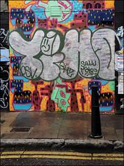 Time / Hotdog (Alex Ellison) Tags: time osv hotdog veg ghz shoreditch eastlondon bricklane throwup throwie urban graffiti graff boobs