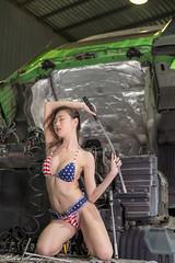 DSC_8894 (Robin Huang 35) Tags: 黃艾比 abbie 修車廠 泳裝 比基尼 bikini 拖車 trailer 車 car 人像 portrait lady girl nikon d850