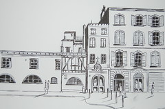 8, Place du parlement. (J-M.I) Tags: dessin illustration graphisme artiste exposition aquarelle paysage art croquis