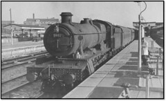 GW Hall at Cardiff General ? (trafalgar45682) Tags: 5987 brocket hall cardiff general station sixties steam
