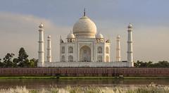The Taj Mahal Across the Yamuna River (Gus Thompson) Tags: buildings architecture beauty tomb mausoleum india agra