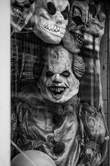 Ready for IT? (pvizdal_photo) Tags: streetphoto street blackandwhite blackwhite mask horror