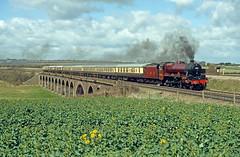 LMS 5690 Irchester (Gridboy56) Tags: locomotive locomotives steam railways trains train railtour 1z55 tyseley stalbans irchester wellingborough northamptonshire uk europe england 5690 leander coaches coach rivernene fourteenarches 460 jubilee