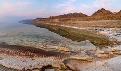 Dead Sea sunset (tyil.pics) Tags: deadsea sunset lake reflection formation salt panorama nikonz7