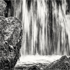 The Curtain and the Rocks... (Ody on the mount) Tags: anlässe em5ii fototour mzuiko6028 omd olympus rahmen triberg wasser wasserfall abstract bw frame monochrome quadratisch sw square water waterfall tribergimschwarzwald badenwürttemberg deutschland de