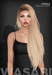 Wasabi // Hair Fair 2018 - Camila hair (Wasabi // Hair Store) Tags: wasabipills 3d mesh hair secondlife ison justmagnetized izzies aviglam maitreya catwa pinkfuel kibitz randommatter