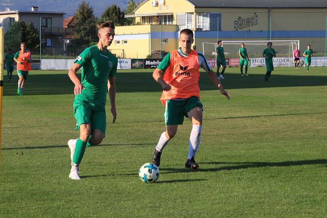 U19: PŠC Pezinok - Iskra Petržalka (09/2018)