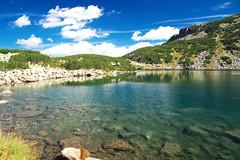 Рила. Черното езеро, 2 362 м.н.м.в. (sevdelinkata) Tags: water mountain tree lake sky landscape rock grass rila bulgaria