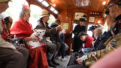 Lively banter at Crich tramway (Visual Photons) Tags: steampunk is subgenre science fiction or fantasy that incorporates technology aesthetic designs inspired by 19thcentury industrial steampowered machinery crich tramway