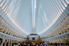 World Trade Center Transportation Hub, Lower Manhattan, NY (AperturePaul) Tags: santiagocalatrava newyorkcity newyork unitedstates america manhattan nikon d600 lowermanhattan worldtradecenter transportationhub oculus modern architecture station