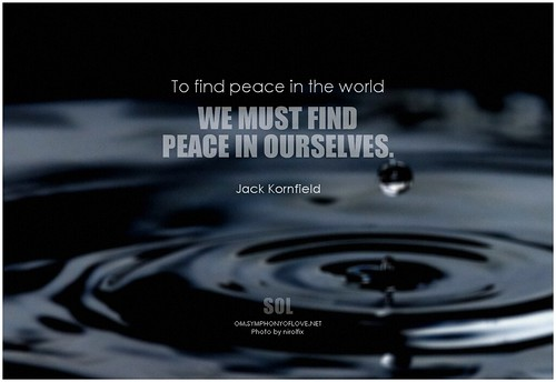 Jack Kornfield To find peace in the world we must find peace in ourselves