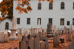 Cemetery at Old First Church (Thomas F Lynch) Tags: bennington vermont vt greenmountainstate fall autumn cemetery church gravestones
