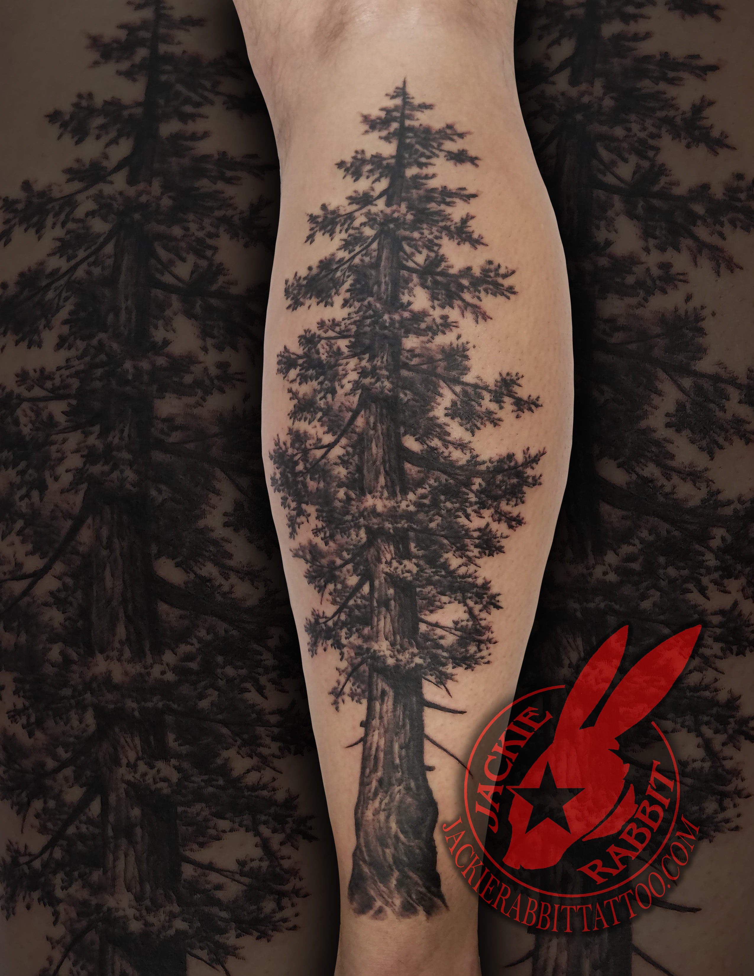 ed0bd4a80 ... Ridge Mountain Branch Realistic Real 3D Black and Grey Sleeve Tattoo by Jackie  Rabbit Pine Tree Realistic Black and Grey Real 3D Tattoo by Jackie Rabbit  ...