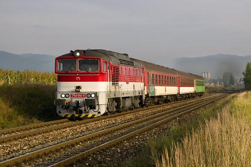 ZSSK 754 014-9, Os 7523 - TURČIANSKE TEPLICE - SLOVAKIA