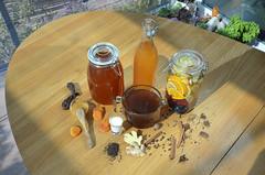 Общая_напитки-DSC_1971 (info@oxumoron.com) Tags: напитки refreshments getränk лемон lemon zitrone ginger ingwer erdbeeren strawberry мёд honey honig корица cinnamon zimt