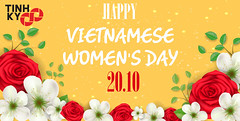 Happy Vietnamese Women's Day (Cong ty Tinh Ky) Tags: yellow rose red white pattern flower blossom happy mother day woman mom love traditional season may march holiday event party celebration lettering inscription isolated vector text background illustration art type calligraphy design concept banner greeting card postcard poster leaflet brochure creative word abstract vintage flat lovely calligraphic decoration classic springtime