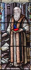 Melton Mowbray, St Mary's church, window detail (Jules & Jenny) Tags: stainedglasswindow stmaryschurch meltonmowbray cranmer