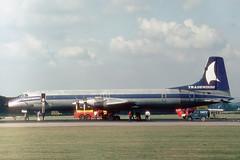 G-AWGT Canadair CL-44D-4 Tradewinds Airways (pslg05896) Tags: gawgt canadair cl44 tradewinds lgw egkk london gatwick