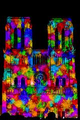 Notre Dame De Coeur - Paris 2018 (Eric R Porcher) Tags: 2018 architecture catholicisme christianisme culturel edificeremarquable europe extérieur festivités france iledefrance lieudeculte monument nocturne notredamedecoeur notredamedeparis paris îledefrance fr