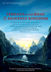 """""""Perilous Is the Road to the Heavenly Kingdom"""" (1991568456rtbp) Tags: almightygod thechurchofalmightygod easternlightning judgment chastisement god'swill voiceofgod creator livingwaters sunset beach water sky flower nature night tree flowers art light snow dog sun clouds cat park winter landscape sea city trees lake people river house car food music new moon garden bird illustration顏色類:red blue white green yellow pink orange blackandwhite"""