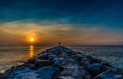 Virginia Beach (Shailendra Jain Photography) Tags: sunrise sun sea rocks light sky skycolors