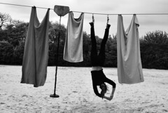 (donna.quijote...) Tags: donna woman acrobathic sport climbing parcouring blackandwhite nice beautiful notallowed people human fun