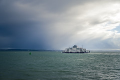 Rain in the Solent (nickcoates74) Tags: a6300 ilce6300 portsmouth sony solent isleofwight hampshire uk wightlink ferry rain