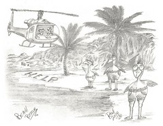 Beach Rescue (rod1691) Tags: myart art sketchbook bw scfi grey concept custom car retro space hotrod drawing pencil h2 hb original story fantasy funny tale automotive illustration greyscale moonpies sketch sexy voodoo