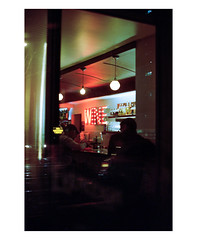 Belle's (b.jaroenwong) Tags: portra400 film filmphotography olympus olympusom2 melbourne australia portra streetphotography restaurant night nightphotography signage fitzroy 35mm 35mmfilm